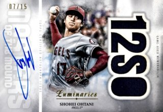 2019 TOPPS Luminaries Autograph Relics Shohei Ohtani 【15枚限定】 / MINT浦和店 日曜日は浦和店様[9月]