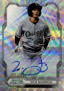 2019 TOPPS Bowman Sterling Autographs Wave Refractors Nick Madrigal 【125枚限定】 / MINT浦和店 日曜日は浦和店様[9月]