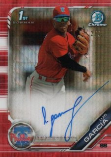 2019 Bowman Chrome Autograph (Red Ref) Luis Garcia【5枚限定】MINT梅田店 ハヤト様[9月]