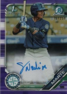 2019 Bowman Chrome Autograph (Purple) Noelvi Marte【250枚限定】MINT梅田店 1CTITT様[9月]