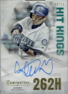 2019 TOPPS LUMINARIES Hit Kings Autograph Card Ichiro 【15枚限定】/ MINT立川店 台湾人様[9月]