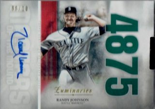 2019 TOPPS LUMINARIES Master of the Mound Auto Red Randy Johnson 【10枚限定】/ MINT立川店 台湾人様[9月]