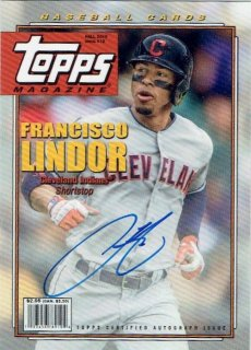 2019 TOPPS ARCHIVES Magazine Autograph Card Francisco Lindor 【150枚限定】 / MINT立川店 わかめ様[9月]