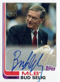 2019 TOPPS ARCHIVES Fan Favorites Autograph Card Bud Selig / MINT立川店 わかめ様[9月]
