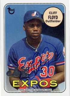 2019 TOPPS ARCHIVES Montreal Expos Autograph Card Cliff Floyd / MINT立川店 あずじぃ様[9月]