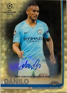 2018-19 Chrome UEFA CL Superfractors Autographs Danilo 【1of1】 / MINT浦和店 Asahi様[9月]