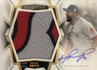 2019 Topps Five Star Autographed Jumbo Patch David Ortiz【10枚限定】ミント札幌店 よし様[10月]