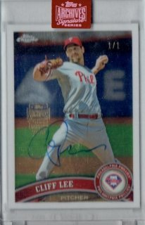2019 TOPPS ARCHIVES SIGNATURE RETIED Autograph Card Cliff Lee 【1of1】 / MINT立川店 高山祐輔様[10月]