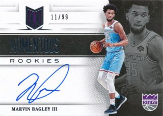 2018-19 Panini Chronicles RC Auto Marvin Bagley【99枚限定】/Rookie Star店 RS2様[10月]