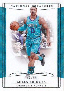 2018-19 Panini National Treasures RC Miles Bridges【99枚限定】/Rookie Star店 RS5様[10月]