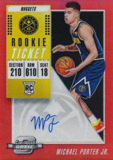 2018-19 Panini Contenders Optic RC Red Auto Michael Porter Jr.【149枚限定】/Rookie Star店 RS13様[10月]