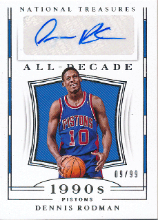 2018-19 Panini National Treasures Auto Dennis Rodman【99枚限定】/Rookie Star店 RS101様[10月]