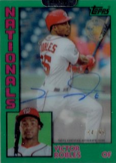 2019 TOPPS CLEARLY AUTHENTIC Autograph Card Green Victor Robles 【99枚限定】/ MINT立川店 Oしゃん様[10月]