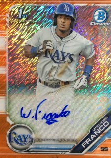 2019 Bowman Baseball Chrome Autographs Orange Shimmer Wander Franco 【25枚限定】/ミント広島店 ロペス様[11月]
