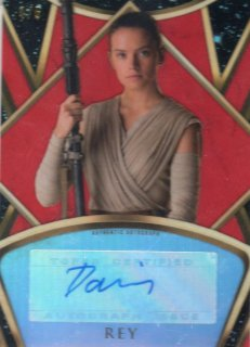 2018 Topps Finest STAR WARS REY Daisy Ridley 5枚限定/MINTひな庄店[11月]