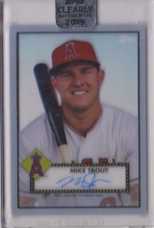 2019 Topps Clearly Authentic Autograph card Mike Trout【15枚限定】/ミントポニーランド店 I様[11月]