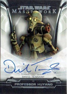 2019 TOPPS STAR WARS MASTER WORK Autograph Card David Tennant / MINT立川店 オラフ様[11月]