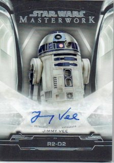 2019 TOPPS STAR WARS MASTER WORK Autograph Card Jimmy Vee as R2-D2 / MINT立川店 オラフ様[11月]