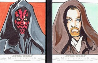 2019 TOPPS STAR WARS MASTER WORK Dual Sketch Card 【1of1】 / MINT立川店 オラフ様[11月]