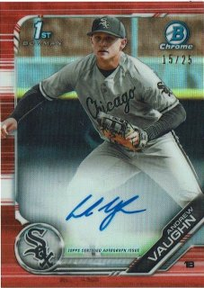 2019 TOPPS BOWMAN DRAFT Chrome Prospect Auto Orange Andrew Vaughn 【25枚限定】 / MINT渋谷店 K様[12月]