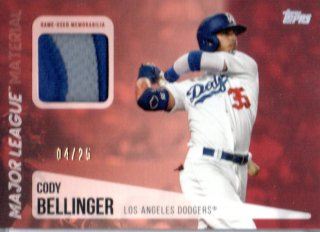 2019 Topps Update Series Major League Material Red Cody Bellinger 【25枚限定】 / MINT三宮店 ラーナ様[3月]