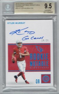 2019 PANINI ENCASED Rookie Notable Sapphire AutoGraph Card Kyler Murray 【25枚限定】 / MINT立川店 kenji様[3月]