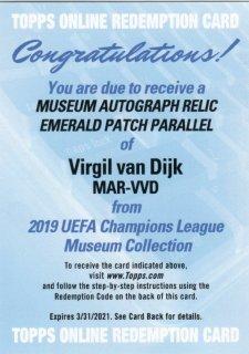 2018-19 Topps UEFA CL Museum Collection Van Dijk Auto 【1of1】MINT神田店 kassi様[3月]