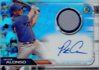 2019 TOPPS BOWMAN CHROME Autograph Relic Card Peter Alonso 【150枚限定】 / MINT立川店 kenji様[3月]