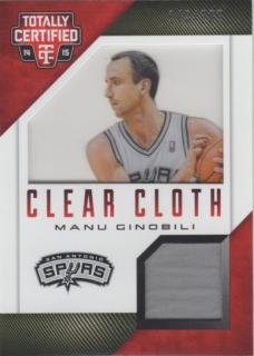 14-15 PANINI Totally Certified Jersey Card Manu Ginobili 【199枚限定】 梅田店 トーセンキャプテン様