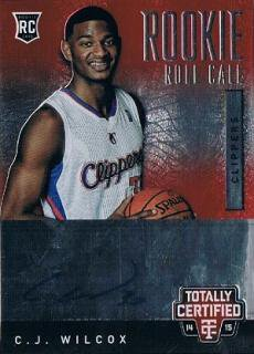 2014-15 PANINI TOTALLY CERTIFIED Rookie Roll Call C.J. Wilcox 【299枚限定】 / MINT新宿店027 かしゅー様