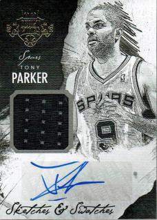 14-15 COURT KINGS Jersey Auto Tony Parker【35枚限定】えびすスポーツカード redstar様