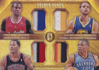 14-15 Panini Gold Standard Paul/Corry/Rose/Westbrook Quad Patch 【25枚限定】/ポニーランド店 HU様