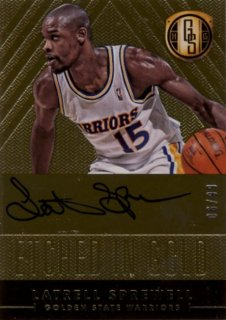 2014-15 PANINI GOLD STANDARD Auto Latrell Sprewell 99枚限定/Rookie Star RS28様
