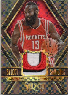 14-15 PANINI SELECT Select Swatches Black Prizm James Harden 【 1OF1 】 MINT梅田店 マンジール様