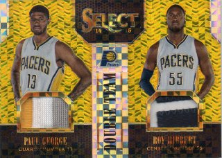 14-15 PANINI SELECT Double Team Jerseys Gold Prizm George/Hibbert 【10枚限定】 MINT梅田店 マダム★ロビーナ様