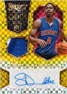 2014-15 Panini Select Spencer Dinwiddie Rookie Jersey Auto Gold Prizm【10枚限定】MINT札幌店 よし様