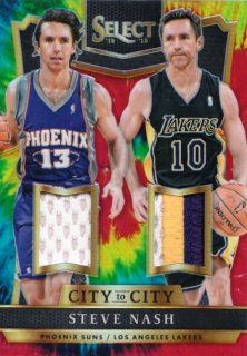 2014-15 Panini Select  Steve Nash City to City Jersey Tie-Dye Prizm【25枚限定】MINT札幌店 よし様