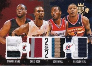 2014-15 NBA PANINI COURT KING 2on2 QWAD MEMORABILIA PRIME Beal/Bosh/Wade/Wall【25枚限定】/MATCHUP GP 様