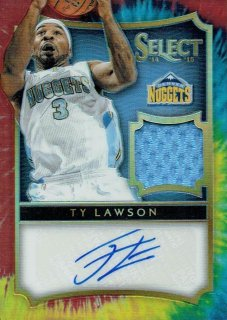 14-15 SELECT Tie-Dye Patch Auto Ty Lawson【25枚限定】えびすスポーツカード Flash3様