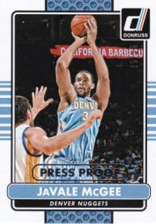 14-15 NBA PANINI DONRUSS SILVER PRESS PROOF JaVale McGee/MATCHUP  BB 様