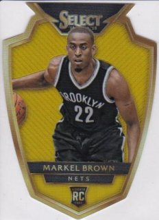 14-15 NBA PANINI SELECT GOLD PRIZMS DIE-CUT Markel Brown【10枚限定】/MATCHUP  たかちゃん 様