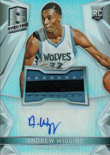 14-15 SPECTRA Patch Auto Andrew Wiggins えびすスポーツカード CP3様