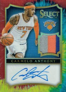 14-15 SELECT Tie-Dye Patch Auto Carmelo Anthony【25枚限定】えびすスポーツカード Nash13様