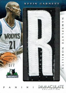 14-15 IMMACULATE Letter Patch Kevin Garnett【7枚限定】えびすスポーツカード ナッパ様