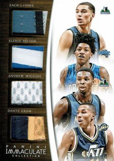 14-15 IMMACULATE Patch LaVine / Payton / Wiggines / Exum【10枚限定】えびすスポーツカード CP3様