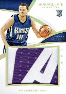 14-15 IMMACULATE Patch Nik Stauskas【20枚限定】えびすスポーツカード Kuma様