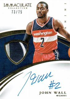 14-15 IMMACULATE Patch Auto John Wall【75枚限定】えびすスポーツカード Kuma様