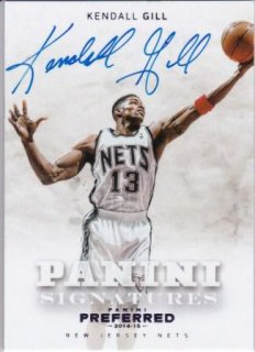 2014-15 NBA PANINI PREFERRED PANINI SIGNATURES PURPLE Kendall Gill【20枚限定】 /MATCHUP  GP 様