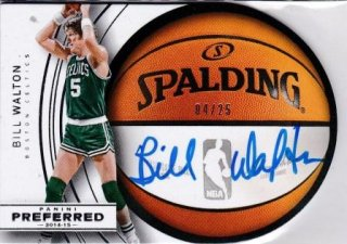 2014-15 NBA PANINI PREFERRED ROUNDBALL DIECUT AUTOGRAPHS Bill Walton【25枚限定】/MATCHUP  レジェンド 様