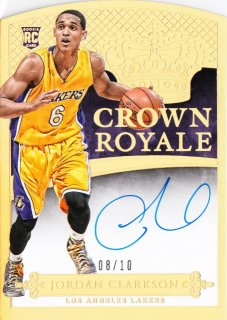 2014-15 Panini Preferred  Jordan Clarkson Rookie Crown Royale Autograph Gold【10枚限定】MINT札幌店 よし様
